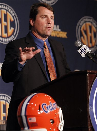 Florida coach Will Muschamp was worried about Ball getting back on the field. (AP)
