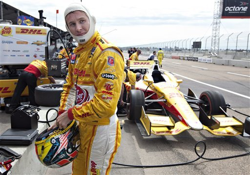 Hunter-Reay penalized in 1st practice at Edmonton