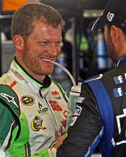 Earnhardt on top of NASCAR standings and loving it