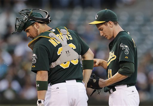 A's lose third straight, fall 4-0 to Angels