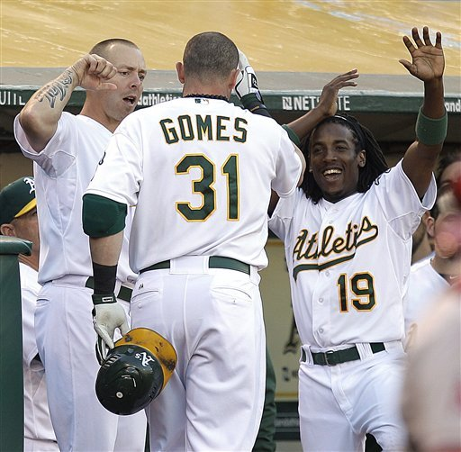 The Oakland A's had a phenomenal July, going 19-5. (AP)
