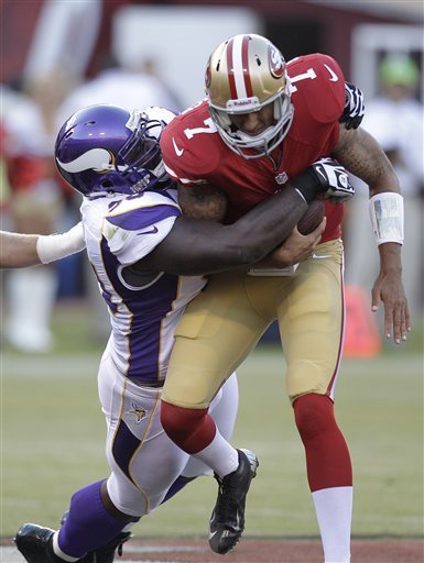 Brandon Jacobs, RBs lead 49ers past Vikings 17-6