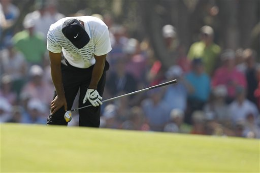 The best part about Tiger Woods' day at Kiawah Island is that it ended early. (AP)