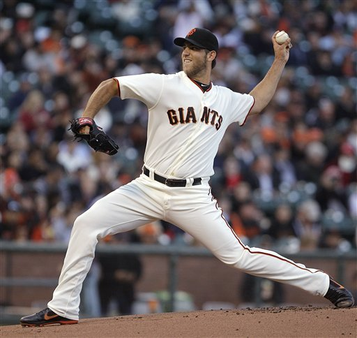 Madison Bumgarner's masterpiece put the Giants back in first place. (AP)