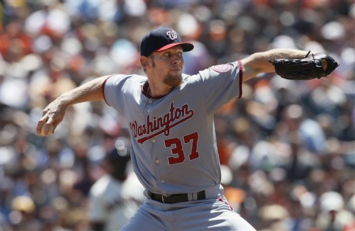 Stephen Strasburg pitches Nationals past Giants