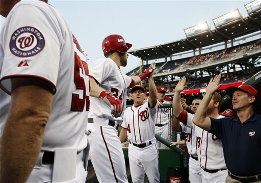 Jackson fans 10, Harper homers as Nats beat Cards