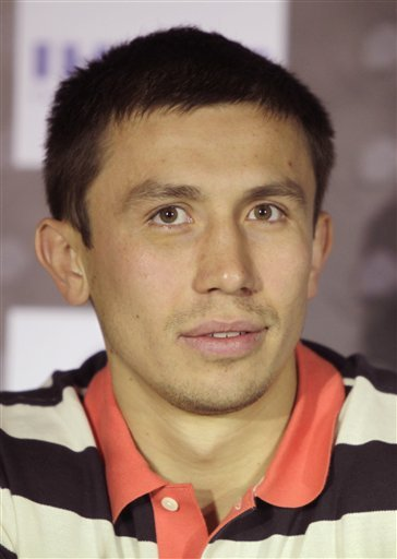 Gennady Golovkin looks on during a press conference. (AP)