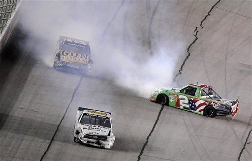 Ty Dillon passes Kyle Busch for 1st Truck win