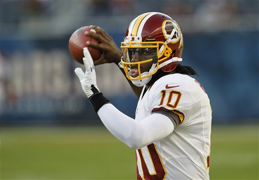 Redskins QB Griffin ready for NFL debut