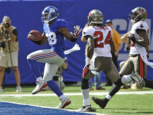 Manning throws for 510 as Giants edge Bucs 41-34