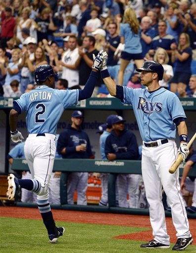 Upton homers again as Rays beat Jays 3-0