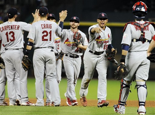 All 4 first-place teams win, Cards increase lead