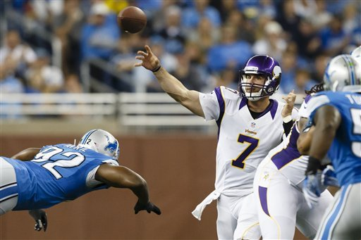 Vikings proud of poised, interception-free Ponder