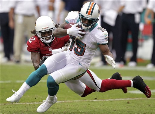 Hartline, Dolphins' receivers 'doing a good job'