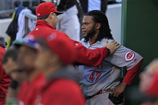 Reds' Cueto will start Game 1 against Giants
