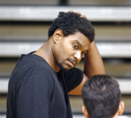 Andrew Bynum didn't play a game for the Sixers last season. (AP)