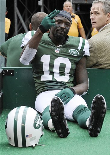 Jets WR Holmes out for season with foot injury