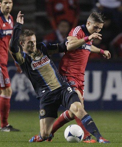 McInerney has goal, assist as Union beats Fire 3-1