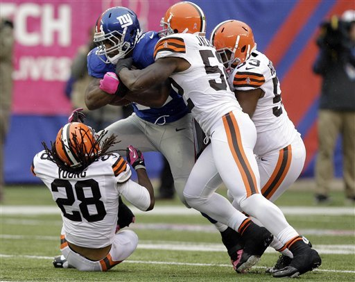 Giants rally, keep Browns winless, 41-27