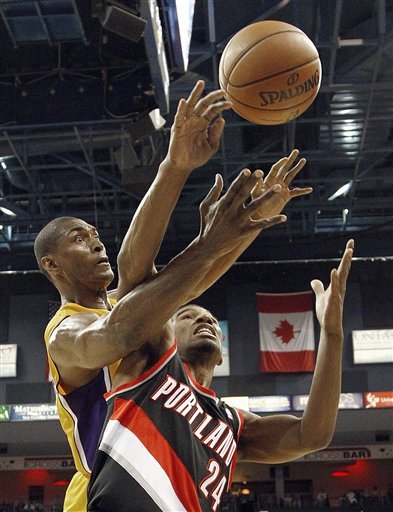 Rookie Lillard leads Blazers past Lakers 93-75