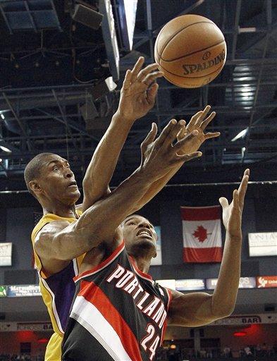 Rookie Lillard leads Blazers past Lakers 93-75