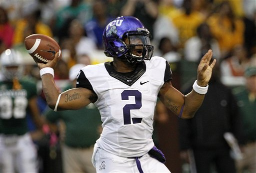 Boykin throws 4 TDs for TCU in 49-21 win at Baylor