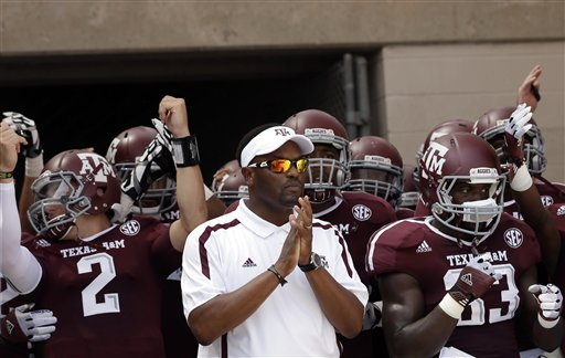 Kevin Sumlin led Texas A&M to a victory over No. 1 Alabama and a No. 9 ranking in the AP poll. (AP)