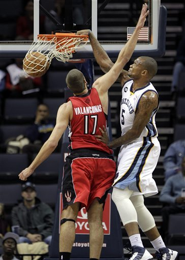 Bargnani's 21 lead Raptors past Grizzlies, 120-106