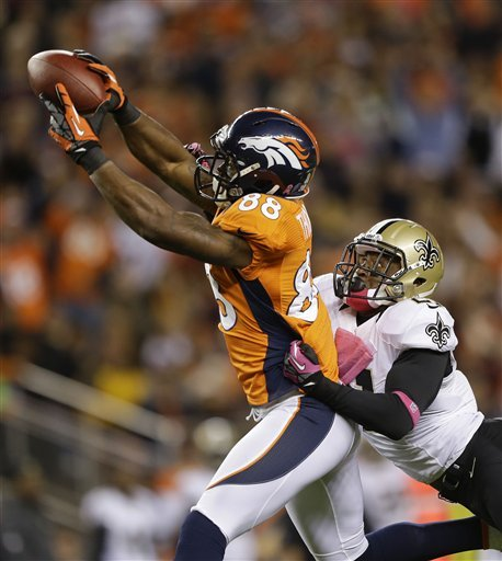 Demaryius Thomas, most valuable fantasy WR? (AP)