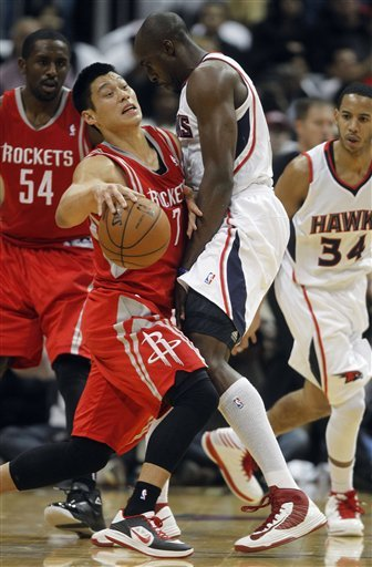 Harden has 45, Rockets beat Hawks 109-102
