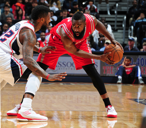 James Harden totaled 92 points in his first two games for the Rockets this season. (AP)