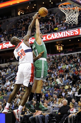 Pierce's late 3 lifts Celtics over Wizards 89-86