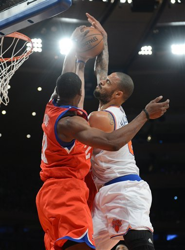 Knicks beat 76ers to open home-and-home series