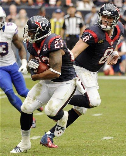 Schaub throws 2 TDs in Texans' 21-9 win over Bills