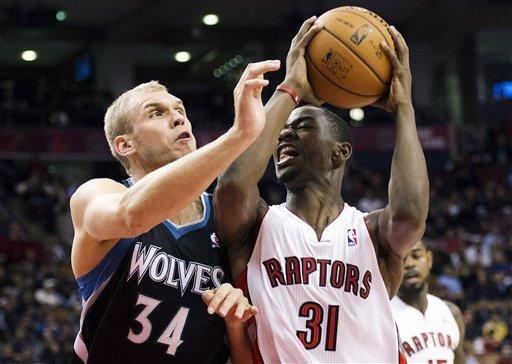 Lowry scores 22, Raptors beat Timberwolves 105-86