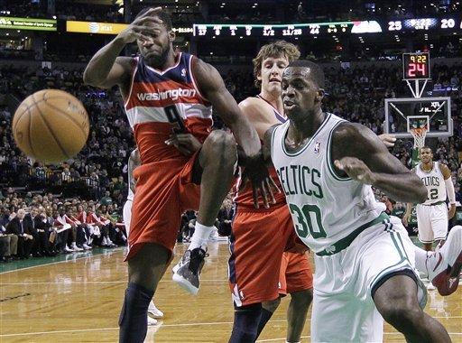Bass and Garnett help Celtics over Wizards in OT