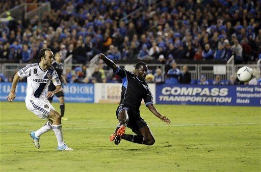 Keane scores twice, Galaxy advance to West finals