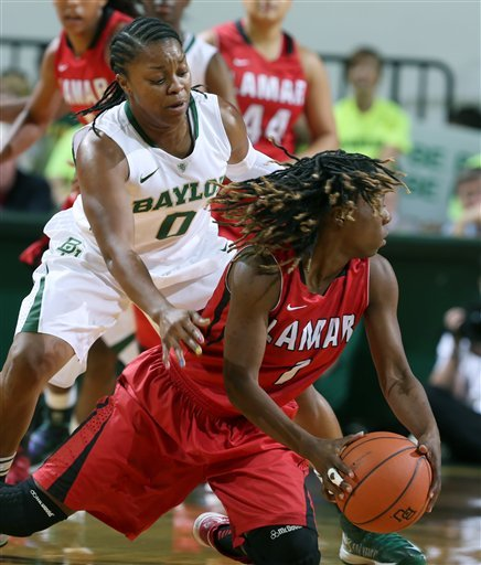 Griner scores 24, No. 1 Baylor women win 80-34