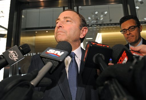 NHL commissioner Gary Bettman's frustration with the union is apparent. (AP)