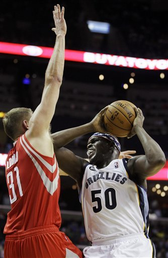 Randolph, Gay lead Grizzlies over Rockets 93-85