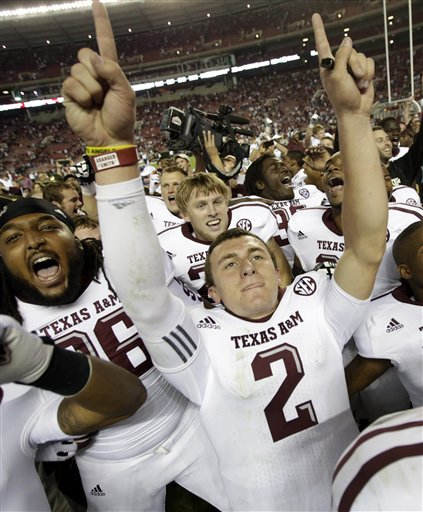 Johnny Manziel and Texas A&M's win over Alabama may have been the SEC's BCS title death knell. (AP)