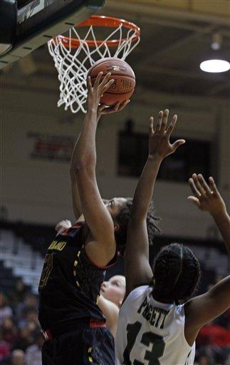 No. 5 Maryland women roll past Loyola, Md 88-45