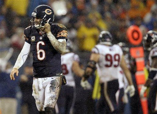 Texans knock out Cutler, beat Bears 13-6