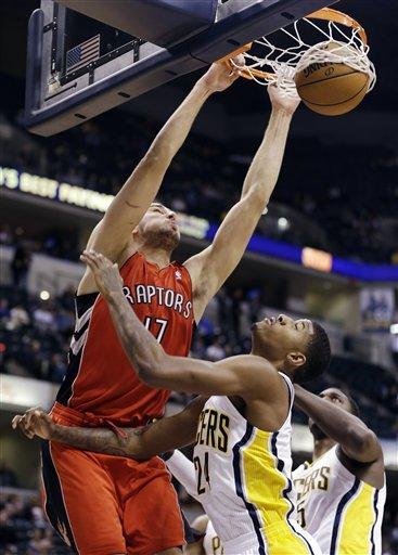 DeRozan leads Raptors past Pacers, 74-72