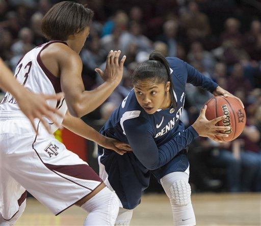 Penn State women edge Texas A&M 63-58