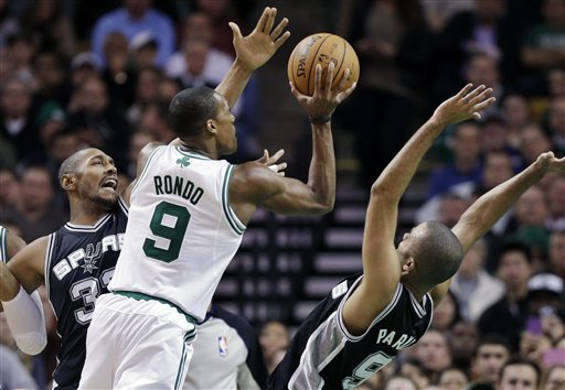 Parker, Duncan carry Spurs past Celtics, 112-100