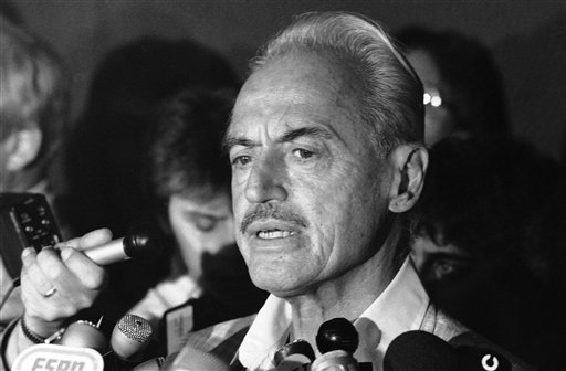 Former baseball union leader Marvin Miller died on Tuesday at age 95. (AP)