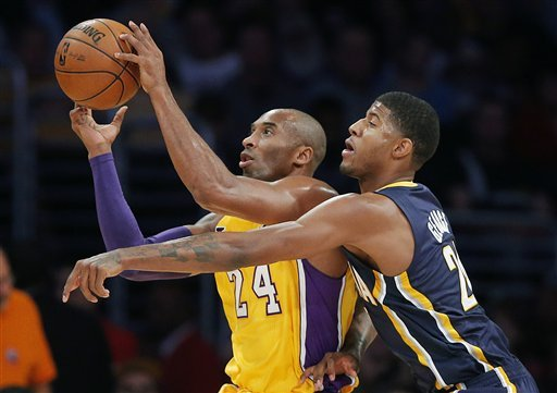 Hill's clutch shot pushes Pacers past Lakers 79-77