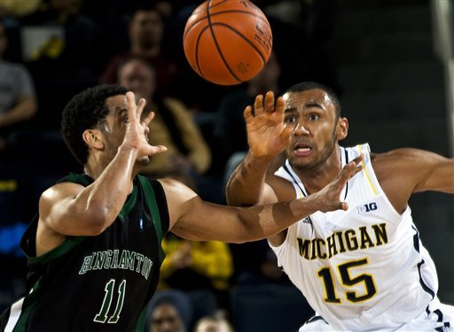 Burke leads No. 3 Michigan in rout of Binghamton