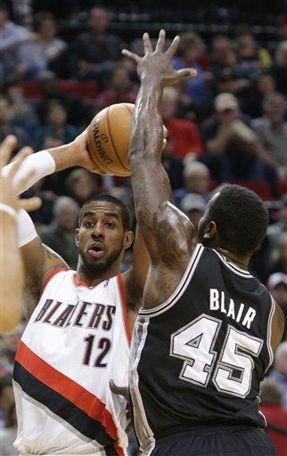 Lillard scores 29, Blazers defeat Spurs 98-90